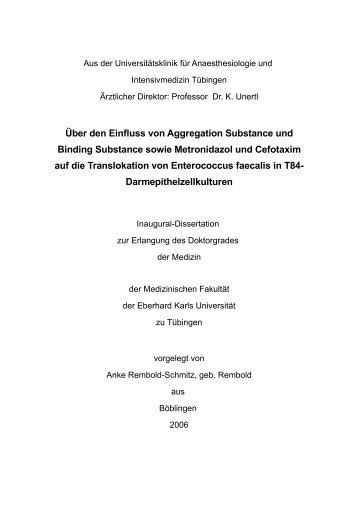 Über den Einfluss von Aggregation Substance und Binding ...
