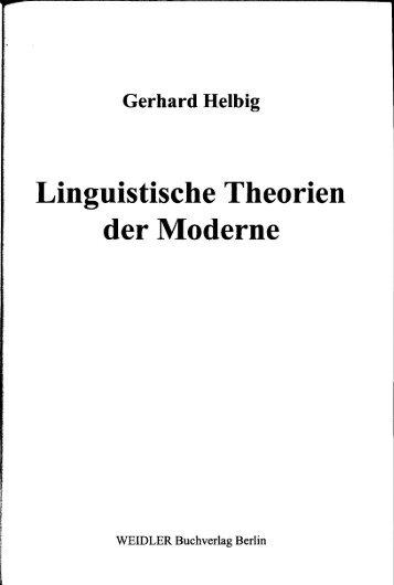 Gerhard Heibig Linguistische Theorien der Moderne