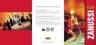 ZANUSSI Zertifizierungen: Qualität: Umweltschutz ... - Electrolux