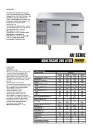 KÜHLTISCHE 265 LITER - Electrolux