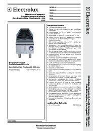 Gas-Rostbräter, Tischgerät, 300 mm - Electrolux