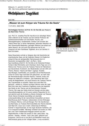 vollständiger Artikel - Toskana Therme