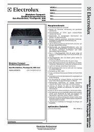 Gas-Rostbräter, Tischgerät, 800 mm - Electrolux