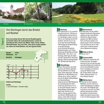 Von Dächingen durch das Brieltal und Rauhtal Tour 6 - Alb-Donau ...