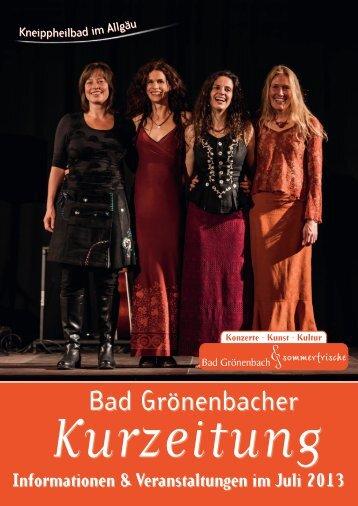 Informationen & Veranstaltungen im Juli 2013 - Kneippheilbad Bad ...