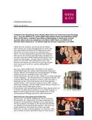 PRESSEINFORMATION - Wein & Co