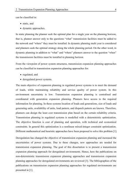 Transmission Expansion Planning in Deregulated Power ... - tuprints