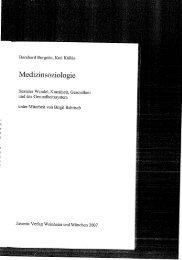Medizinsoziologie - UK-Online