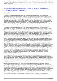 Andreas Umland: Die andere Anomalie der Ukraine: ein Parlament ...