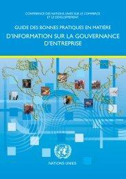 D'INFORMATION SUR LA GOUVERNANCE D'ENTREPRISE - Unctad