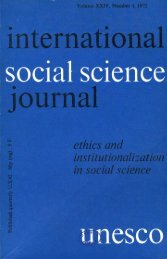 Ethics and institutionalization in social science ... - unesdoc - Unesco