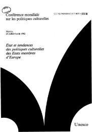 MONDIACULT; 2nd; État et tendances des ... - unesdoc - Unesco