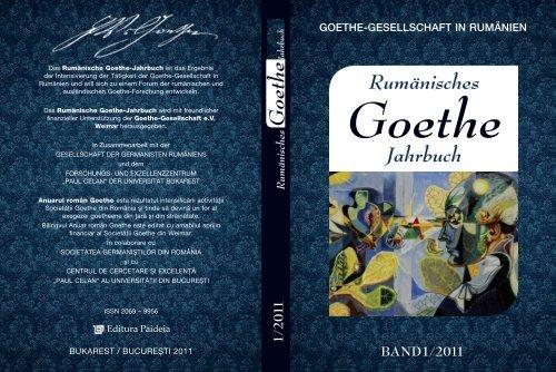 Rumänisches Goethe Jahrbuch Universitatea Din București