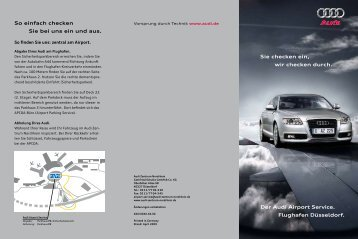 Weitere Informationen zum Audi Airport Service