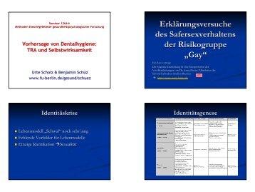 """""""Safersexverhalten der Risikogruppe Gay"""" (pdf, ca - Userpage"""