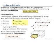 Struktur von Einkristallen Das Bravais-Gitter