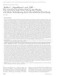 """""""Rollkur"""", """"Hyperflexion"""" und """"LDR"""" – Die natürliche Kopf-Hals ..."""