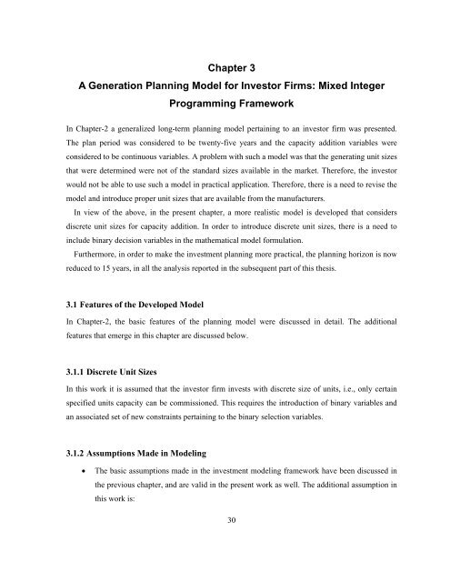 Generation Capacity Expansion Planning in Deregulated Electricity ...
