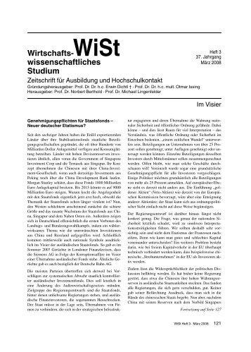 Genehmigungspflichten für Staatsfonds – Neuer deutscher ... - Vahlen
