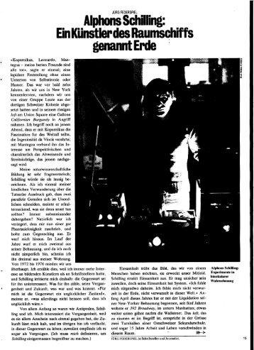 Alphons Schilling: Ein Kunstler des Raumschiffs ... - Vasulka,org
