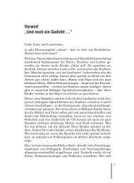 """Vorwort """"Und noch ein Gedicht ..."""" - Verlag Modernes Lernen"""