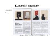 Kunstkritik alternativ - Vermittlung von Gegenwartskunst