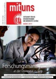 Umbruch Mituns 44.indd - Verwaltung - Universität zu Köln