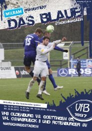 Saison 2011/2012 - VfB Oldenburg
