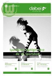Sportliches Highlight 2010 - die VfL Sportshow ... - Vfl-wob.de