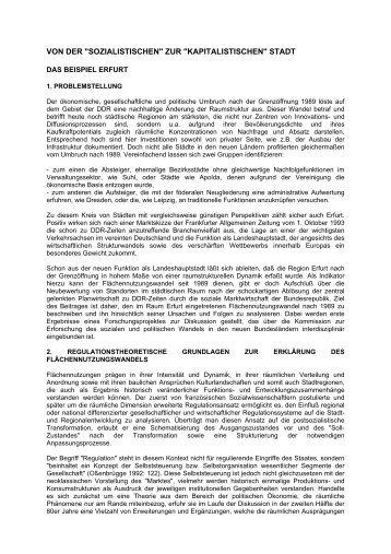"""""""sozialistischen"""" zur """"kapitalistischen"""" stadt - Via Regia"""