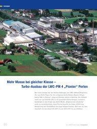 """Turbo-Ausbau der LWC-PM 4 """"Pionier"""" Perlen - Voith"""