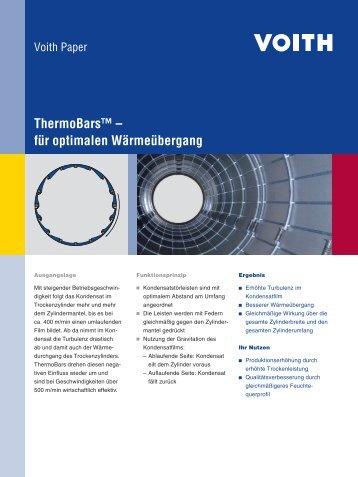 ThermoBars™ – für optimalen Wärmeübergang - Voith