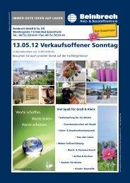 13.05.12 Verkaufsoffener Sonntag - Beinbrech