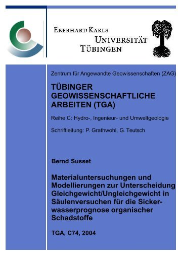 tübinger geowissenschaftliche arbeiten (tga) - Universität Tübingen