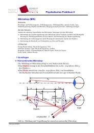 Physikalisches Praktikum II Mikroskop (MIK)