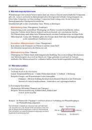 Physik EI01 Thermodynamik - Wärmetransport Seite 6 ...