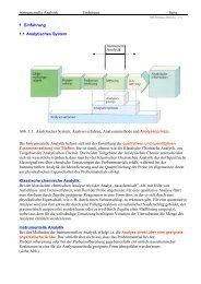 Instrumentelle Analytik Einleitung Seite 1 Einführung 1.1 ...
