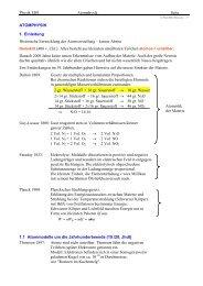Physik EI01 Atomphysik Seite ATOMPHYSIK 1. Einleitung ...