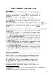 Skript zur Vorlesung: Systemtheorie Einleitung - Hochschule München