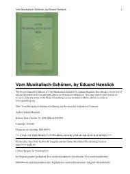 Vom Musikalisch-Schönen, by Eduard Hanslick - Walter Cosand