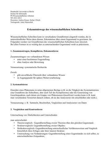 Handout - Humboldt-Universität zu Berlin