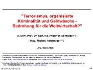 Vortrag Prof. Dr. Friedrich Schneider