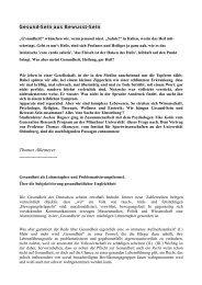 Gesundheit - Evangelische Akademie Tutzing