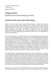 Grundwerte für eine gerechte Weltordnung - Evangelische ...