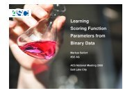 Learning Scoring Function Parameters from Binary Data - CINF