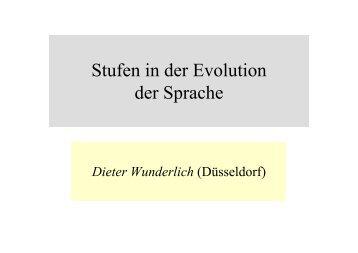 Stufen in der Evolution der Sprache