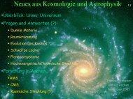 Neues aus Kosmologie und Astrophysik - Server der Fachgruppe ...