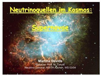Supernovae - Server der Fachgruppe Physik der RWTH Aachen