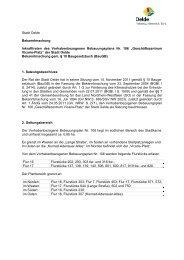 Stadt Oelde Bekanntmachung Inkrafttreten des ...