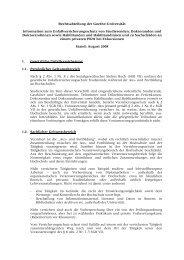 Rechtsabteilung der Goethe-Universität